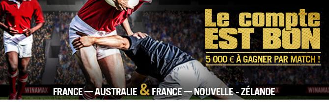 5000 euros à gagner par match !