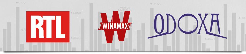 logos RTL, Winamax et Odoxa