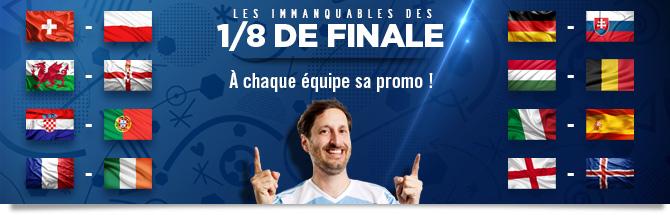 À chaque équipe sa promo pour les 1/8 de l'Euro!