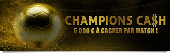 5000 euros à gagner par match