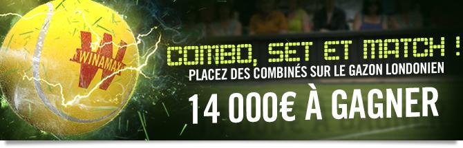 Combo Set et Match : 14 000 euros à gagner