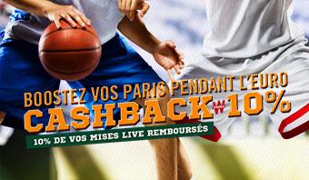 Cash Back 10% Eurobasket