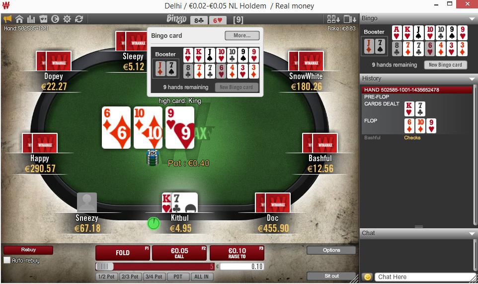 Cash Game Bingo 100 000 To Win Winamax