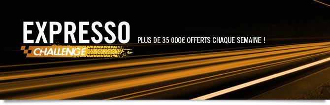 challenge expresso : plus de 35 000 euros de prix chaque semaine !