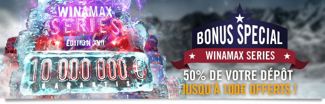 50% de votre dépôt jusqu'à 100 euros d'offerts !