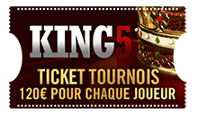 Ticket tournois 150 euros pour chaque joueur