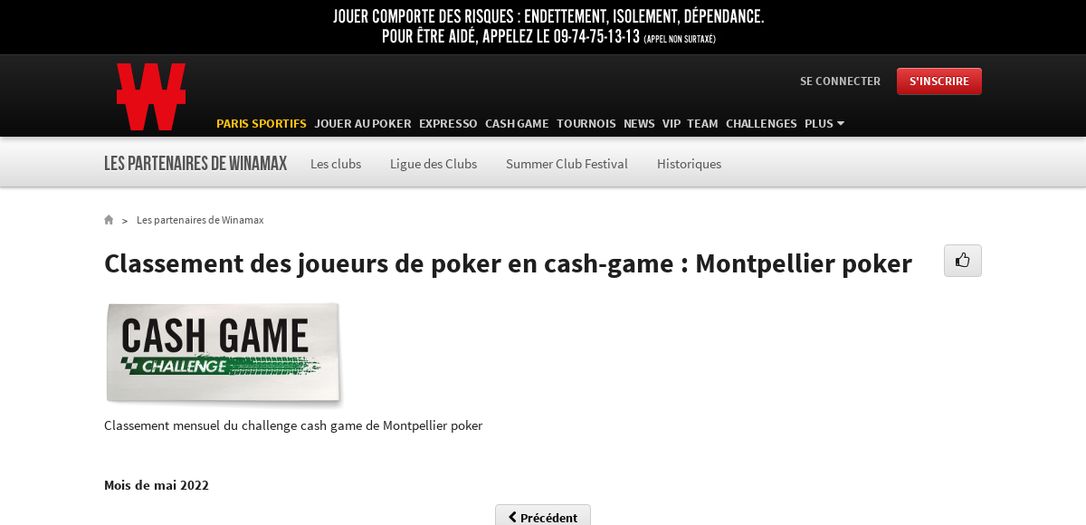 Classement montpellier poker blocking all gambling sites