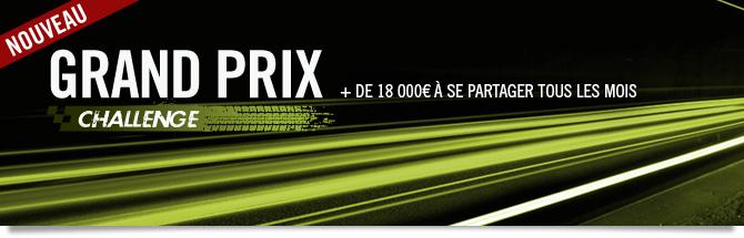 challenge Grand Prix : 18000 euros à se partager tous les mois