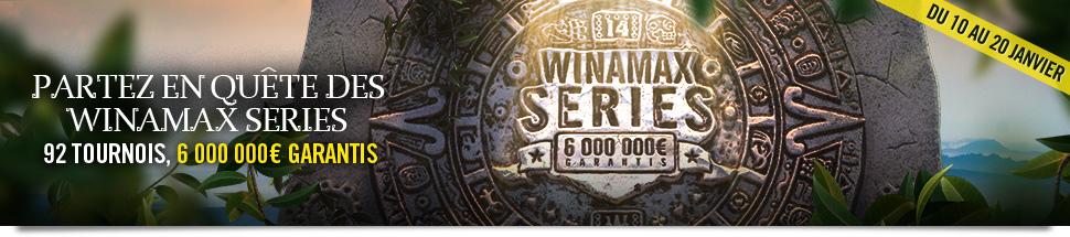 Winamax Series XIV - 92 tournois, 6 000 000 euros garantis.