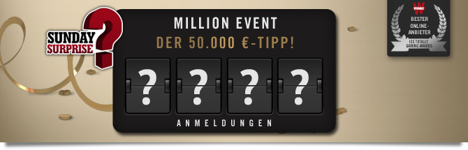 50.000 € für den Million Event-Tipp