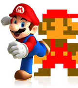 Mario old school VS Mario High Tech
