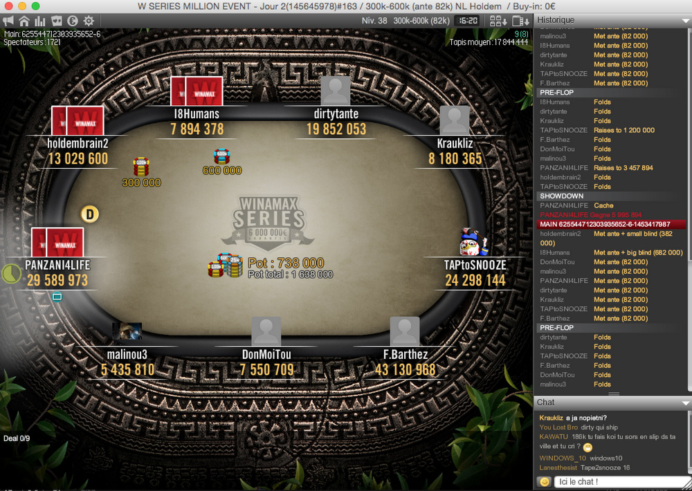 holdembrain2, king of the Million Event - News - Winamax