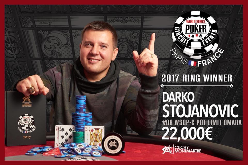 WSOPC PLO Vainqueur Darko Stojanovic