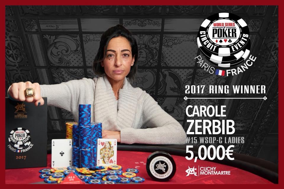 WSOPC Zerbib Vainqueur Ladies