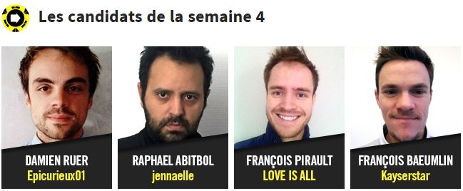 Candidats Semaine 4