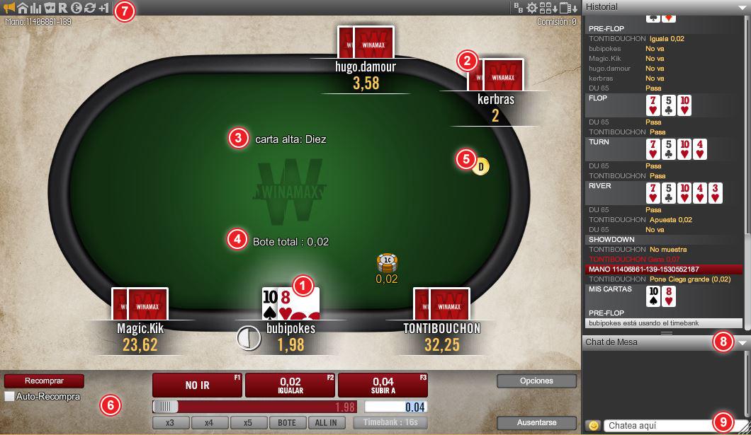 Mesas de poker Winamax