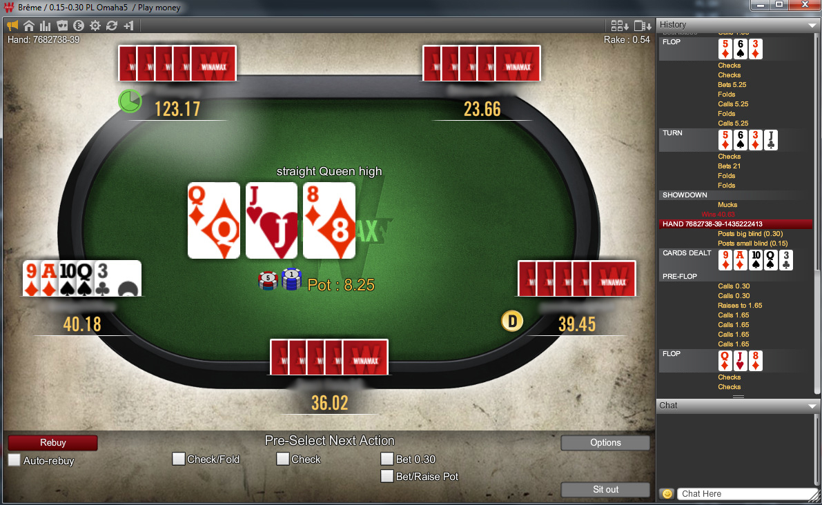 Regle poker omaha 5 cartes