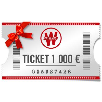 Ticket de 1 000 euros à offrir