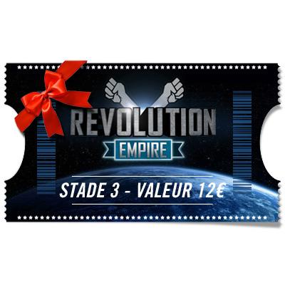 Ticket Révolution - Stade 3 à offrir