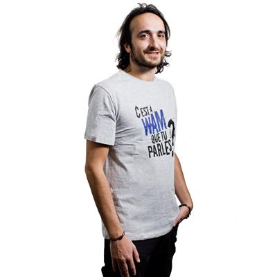 Tee shirt gris Wam Poker
