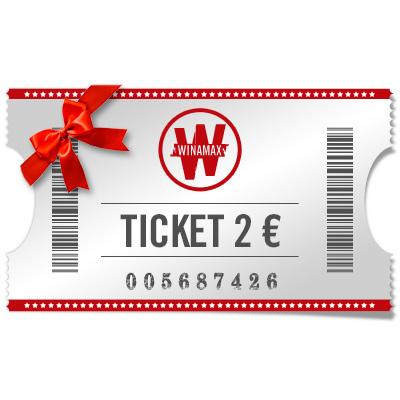 Ticket de 2 euros à offrir