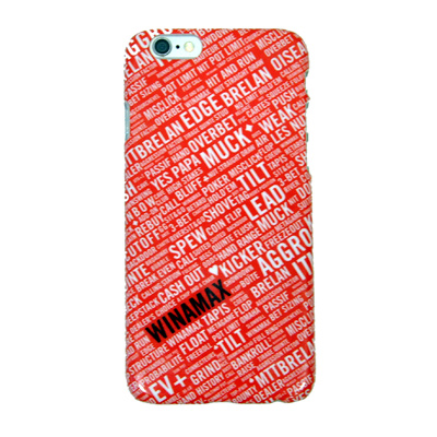 Coque rigide rouge et blanche pour iPhone 6