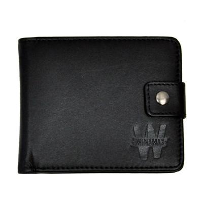 Portefeuille Winamax en cuir noir