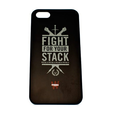 Coque rigide noire Fight for your stack pour iPhone 5