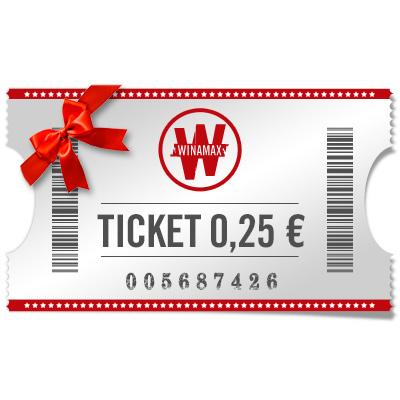 Ticket de 0,25 € à offrir