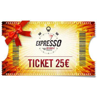 Ticket 25 € Expresso à offrir !