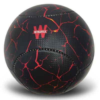 Ballon de foot rouge et noir