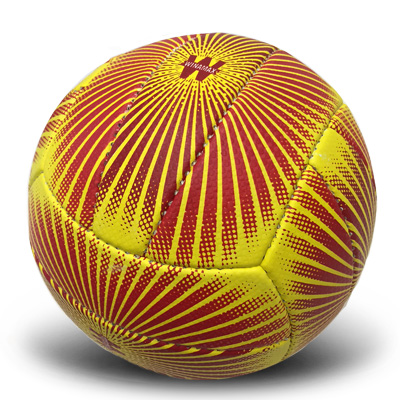 Ballon de volley jaune et rouge