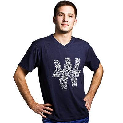 Tee shirt bleu Ballon de foot