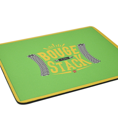Tapis de souris vert 'Bouge ton stack'