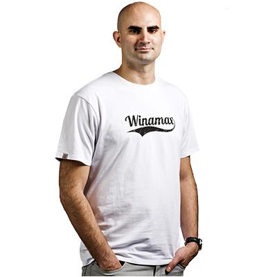 Tee shirt blanc Winamax Virgule