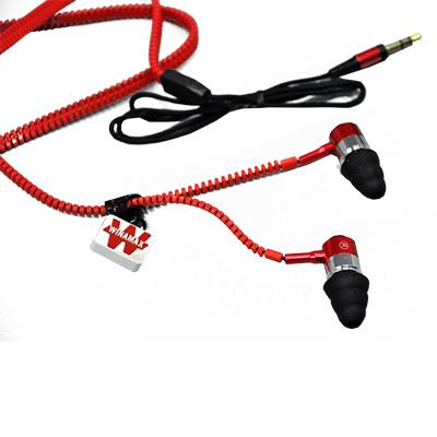Ecouteurs zip rouge Winamax