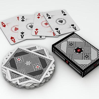 Jeu de cartes noir