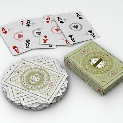 Nouveau jeu de cartes kaki