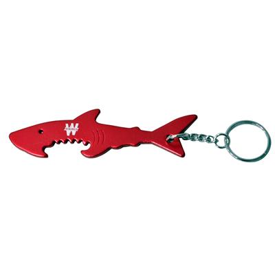 Porte-clé requin décapsuleur rouge