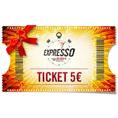 Ticket 5 € Expresso à offrir !