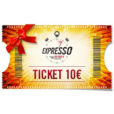Ticket 10 € Expresso à offrir !