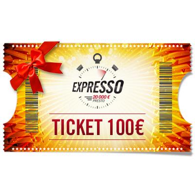 Ticket 100 € Expresso à offrir !