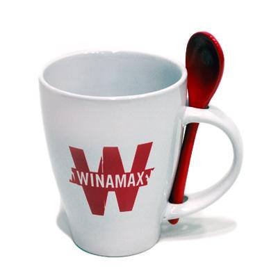 Nouveau Mug Winamax blanc avec sa cuillère