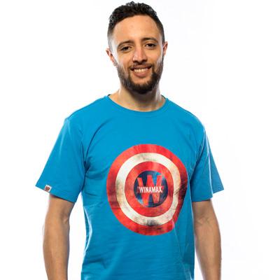 Nouveau Tee shirt Bleu Captain America