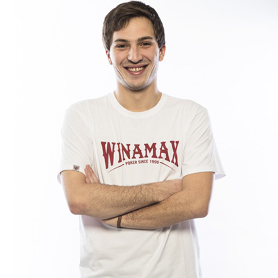 Nouveau Tee shirt blanc Winamax rouge