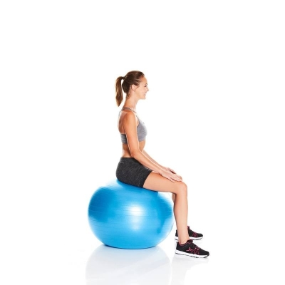 Ballon de Gym et Pilates anti-éclatement Médium DOMYOS