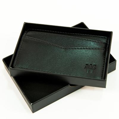 Porte-cartes Winamax en cuir - noir