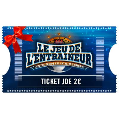 Ticket Jeu De l'Entraineur 2 € à offrir