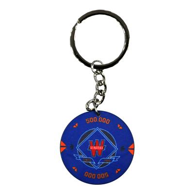 Porte clé jeton bleu