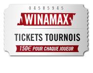 neuvième à cinquantième place Winamax tickets tournois